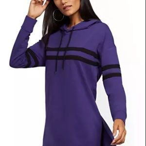 Purple w/Black Striped Hoodie/Tunic